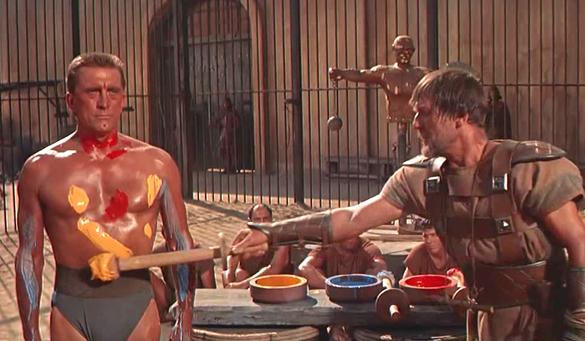spartacus-kirk-douglas-paint