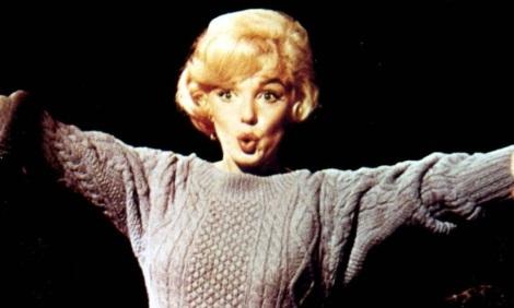 marilyn-wearing-a-sweater-in-lets-make-love1