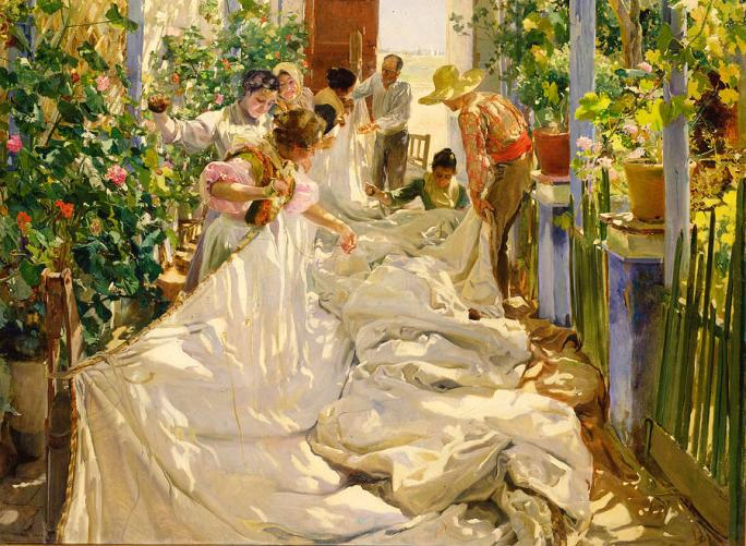 sewing-the-sail-joaquin-sorolla